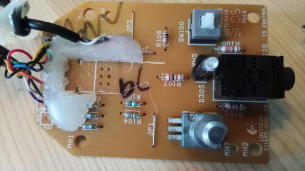 logitech z 2300 remote control pod fix rolandow\u0027s logitech z 2300 control pod bypass cable logitech z 680 circuit diagram wiring