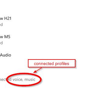 Bluetooth settings in Windows 10